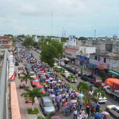 NUEVAS MARCHAS SACUDEN A QR: Protestan miles de maestros en Cancún y Chetumal contra la reforma educativa; aún no hay acuerdos para retornar a clases