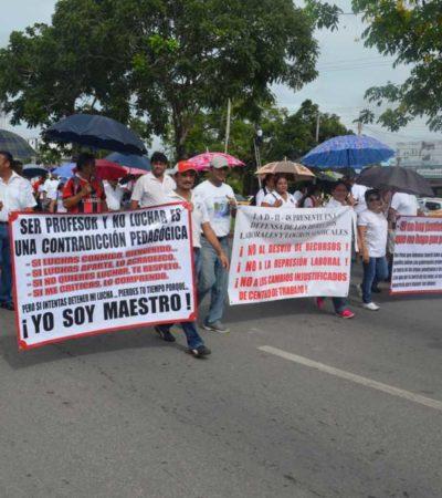REAVIVAN MALESTAR MAGISTERIAL: Van maestros por paros escalonados a partir de la próxima semana por hostigamiento