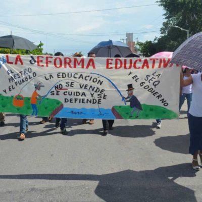 FRENTE MAGISTERIAL CONTRA REFORMAS: Maestros del Sureste acuerdan en QR continuar la lucha contra reformas de Peña Nieto