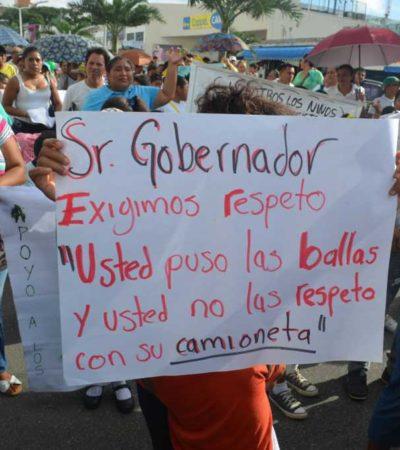 Realizarán maestros y padres de familia mega marcha contra la reforma educativa en QR