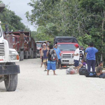 Sale comuna al paso y resuelve momentáneo bloqueo al relleno sanitario de Cancún