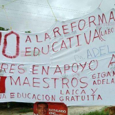 CAMBIAN MAESTROS DE ESTRATEGIA: Rechazan levantar el paro en QR y trasladan centro de protestas de Chetumal a Cancún; lanza Borge 'amenazas' por TV para regresar a clases