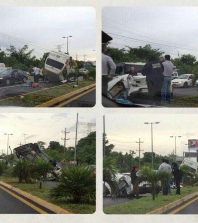 ACCIDENTE EN PUERTO MORELOS: Choque de 3 vehículos provoca la muerte de una residente canadiense y el conductor responsable de la tragedia