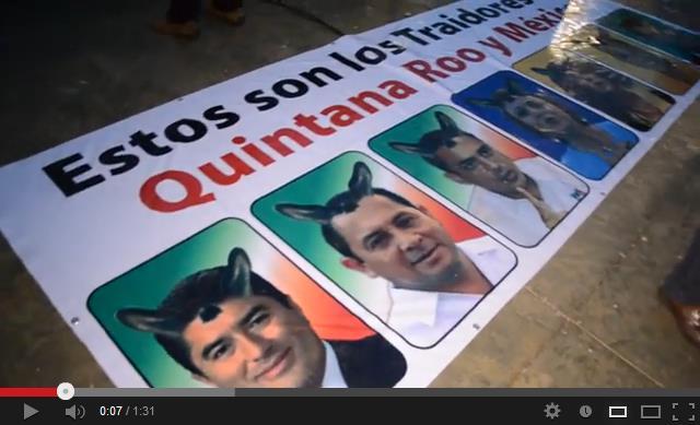VIDEO: ¡Oraleee! El Juego de los Burros en el plantón de maestros en Chetumal