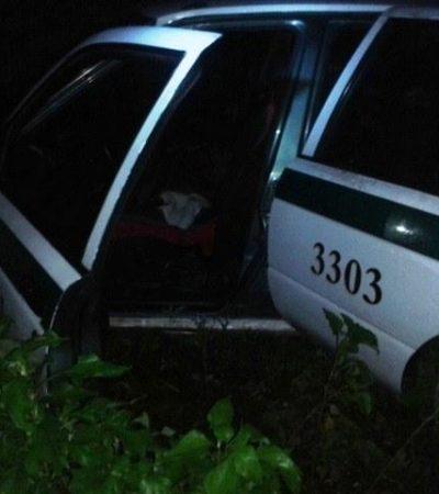 Recuperan taxi robado en Cancún