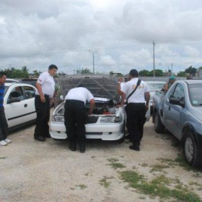 Buscan autos robados en tianguis de Cancún