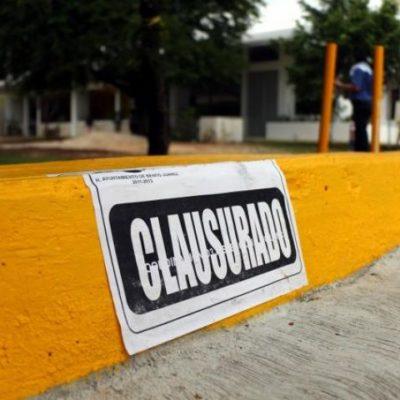 Clausuran estacionamiento de parroquia de Legionarios en Cancún