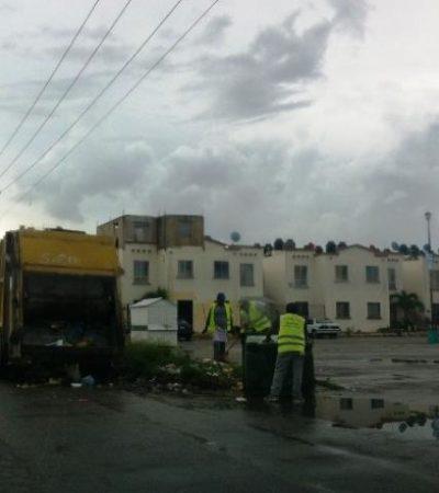 Comienza a regularizarse recolección de la basura en Cancún