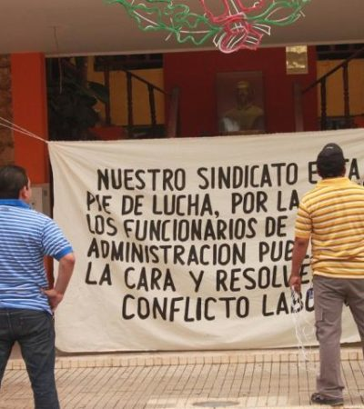 Toman burócratas Palacio Municipal de FCP