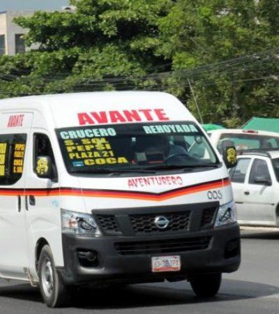 Combis toleradas no tienen autorización, pero también subieron el pasaje en Cancún