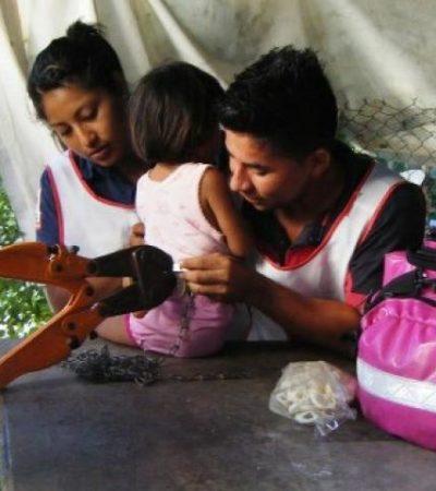 Rescatan a una niña abandonada y encadenada en Villas Otoch