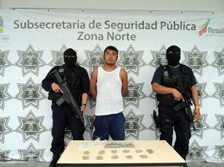 Capturan a narcomenudista en la SM 76 de Cancún