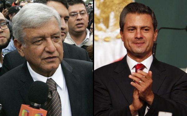 AMLO OFRECE LA MANO: Dice Obrador estar dispuesto a reunirse con Peña Nieto para discutir una consulta nacional sobre la reforma energética