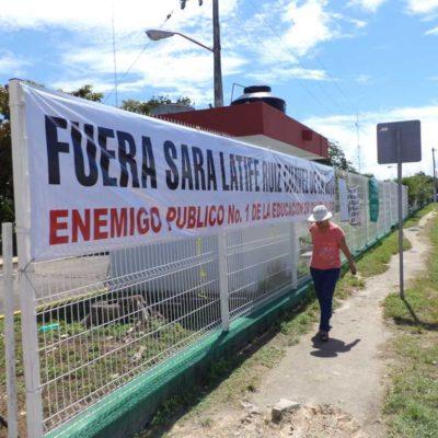 DEFIENDE SARA SU PUESTO: Dice Secretaria de Educación que su permanencia no es negociable y denuncia 'chantajes' y 'amenazas'