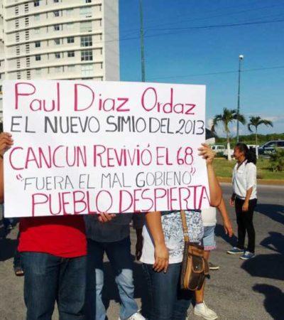 """NUEVA PROTESTA MAGISTERIAL: Marchan maestros en Cancún y Chetumal para denunciar la represión del Alcalde """"Paul Díaz Ordaz"""" e insistir en renuncia de Sara Latife"""