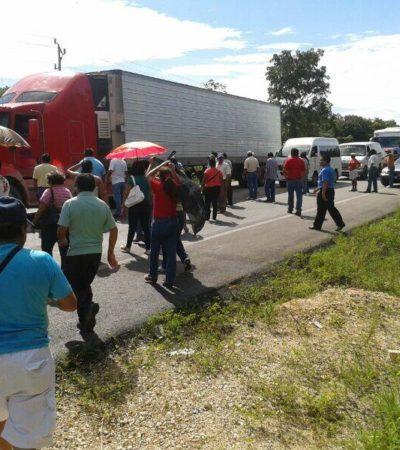 DAN CLASES A BORGE DE DESGOBIERNO: Maestros bloquean carreteras, toman oficinas de la SEyC y suspenden labores en QR en reclamo a los acuerdos incumplidos