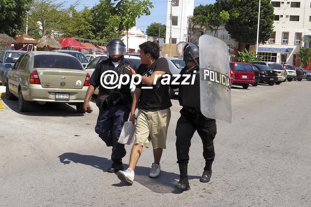 Detenciones ilegales de presuntos maestros en Cancún