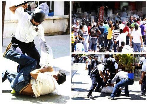 INSURGENCIA MAGISTERIAL EN QR: Entran maestros al Palacio Municipal en Cancún y son desalojados por antimotines con golpes y gases lacrimógenos; decenas de heridos y detenidos; bloquean carreteras en Playa, FCP y Chetumal; Gobernador cancela mesa de diálogo