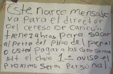 Con supuesto narcomensaje, amenazan al alcaide de la cárcel de Cancún