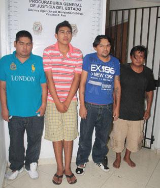 Capturan a cuarteto por presunto intento de 'levantón' en Cozumel