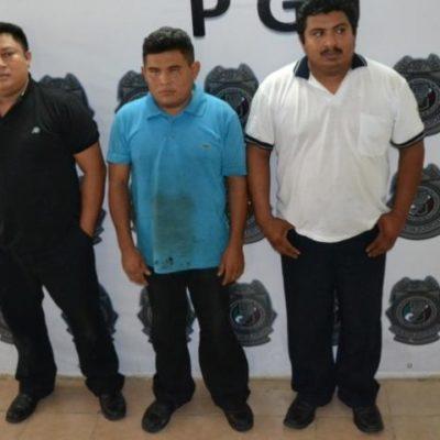 Consignan a trío de extorsionadores en Cancún