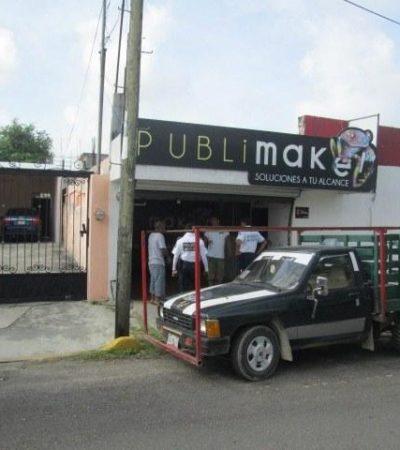 Saquean negocio de impresión de publicidad en Chetumal