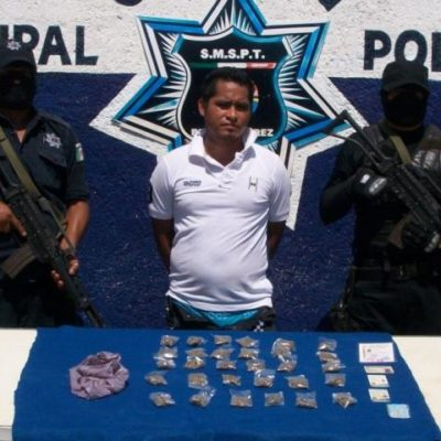 Capturan a narcomenudista en Rancho Viejo