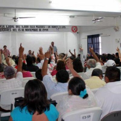 Cierran ejidatarios de Isla Mujeres camino hacia el nuevo basurero