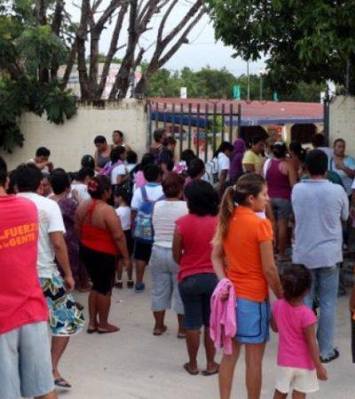 Prevalece suspensión de clases en 70% de escuelas de Cancún