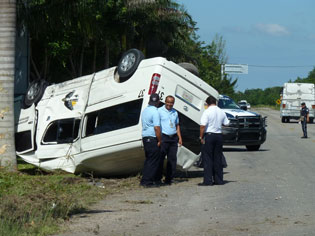Aparatosos accidentes en Cozumel y Playa