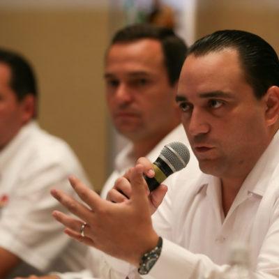 """Desmiente Borge renuncia de Sara Latife y lamenta """"radicalización"""" de maestros inconformes en Cancún"""
