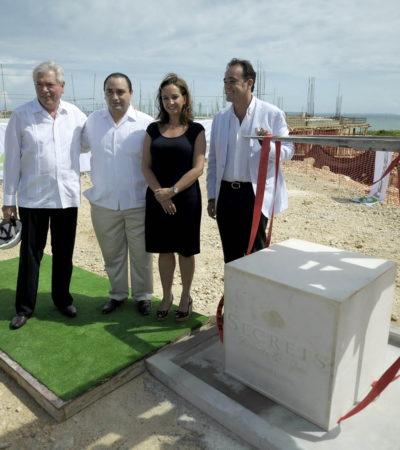 Colocan primera piedra de hotel de los Hank Rhon en Playa Mujeres; invertirán 150 mdd
