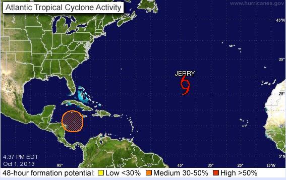 Alertan sobre posible formación de tormenta en ruta hacia la Península de Yucatán
