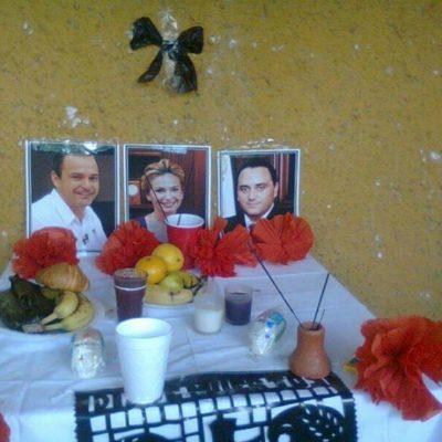 TRADICIÓN… Y ASPIRACIÓN: Les montan sus altares de muertos a Borge, Sara, Paul y al General Bibiano Villa
