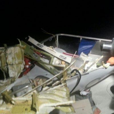 Aún no hallan caja negra del Learjet accidentado ni encuentran cuerpos de médico cozumeleño y piloto
