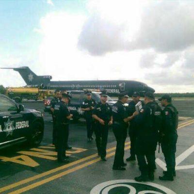 Arriban a QR más de 600 policías federales y esperan órdenes por bloqueos