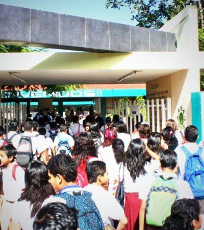 Reinician clases sin contratiempos en QR, aunque no en todas las escuelas fue miel sobre hojuelas