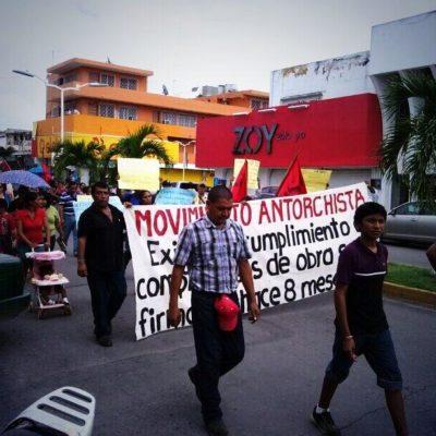 Marchan antorchistas en Chetumal en reclamo al incumplimiento de acuerdos
