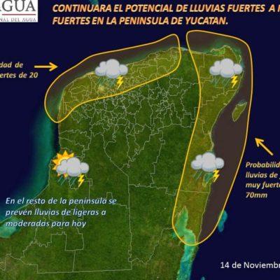 LLUVIAS E INUNDACIONES EN QR: Todo el norte del estado, desde Cancún a Cobá, afectado por aguaceros del frente frío 12