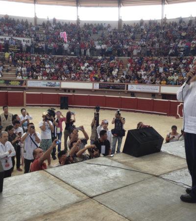 AVANZA MORENA EN QR: Participan 3 mil 89 afiliados en asamblea constitutiva del Movimiento Regeneración Nacional; buscará AMLO revertir reforma hacendaria y homologación del IVA