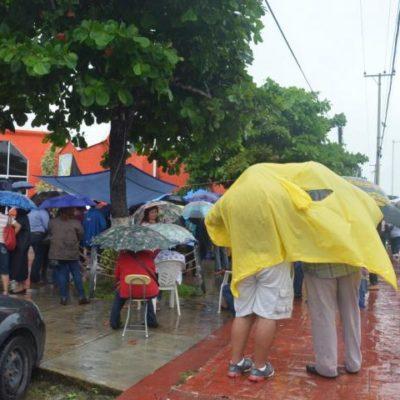Se desvanece plantón de maestros en la sede del SNTE en Chetumal