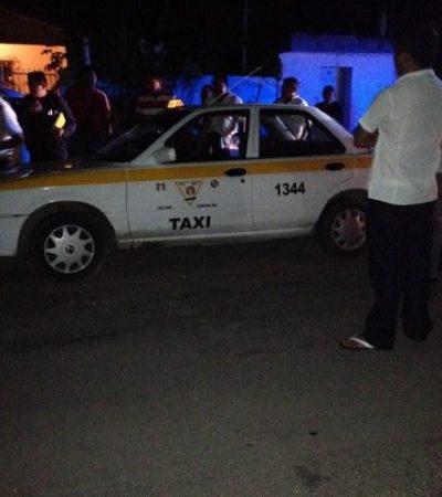 Asaltan a taxista en Chetumal y lo despojan de su unidad