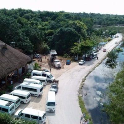 No disminuyen inundaciones en Cobá por desbordamiento de laguna