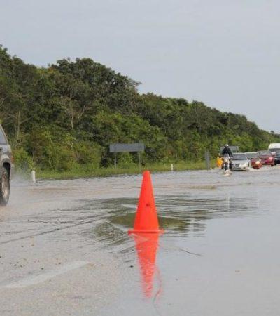 Se mantiene anegamientos en carretera federal en FCP
