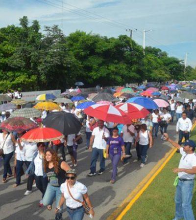 Alistan maestros 'marcha revolucionaria' en Chetumal para ratificar rechazo a la reforma educativa