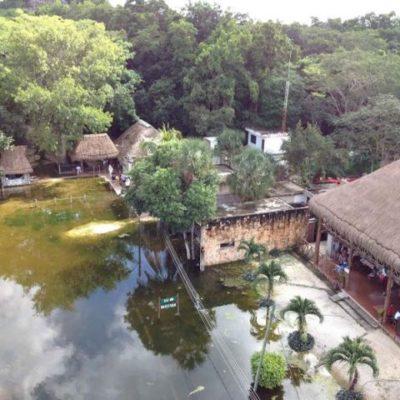 Piden no cerrar zona arqueológia de Cobá pese a persistente inundación