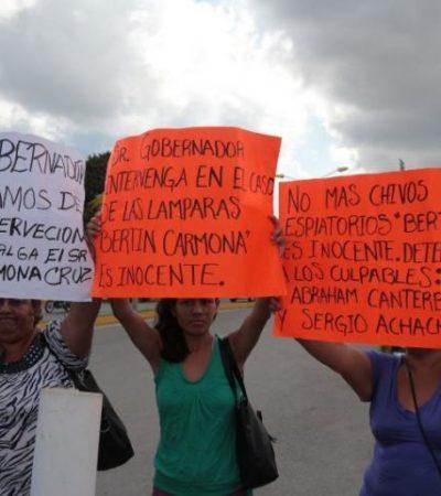 """""""NO MÁS CHIVOS EXPIATORIOS"""": Familiares de 'chatarrero' implicado en robo de luminarias exigen su liberación"""