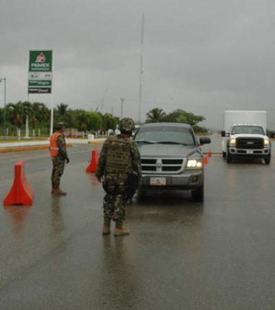 Instalan retenes militares en carreteras del sur de QR