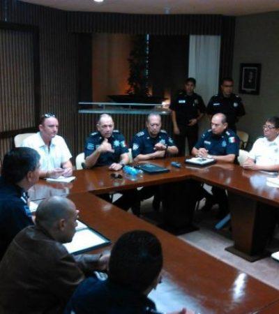 Sin Bibiano Villa, acuerdan altos mandos policiacos implementación del 'Código Rojo' contra delincuencia al sur de QR