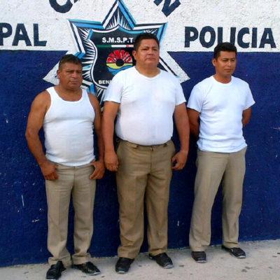 NI LA BURLA PERDONAN: Salen libres policías de Cancún detenidos por extorsionar a automovilistas